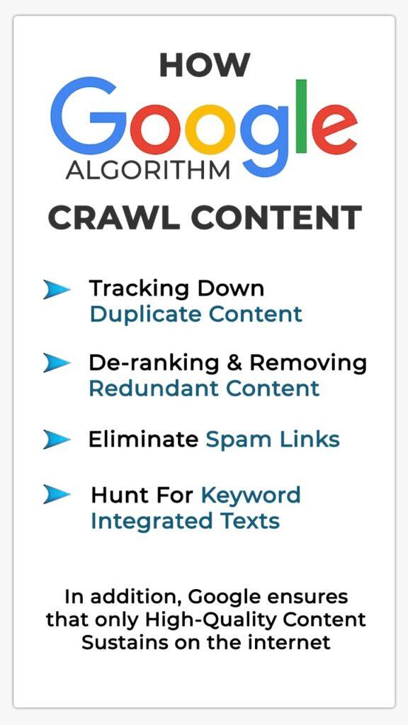 How google algorithm crawl content